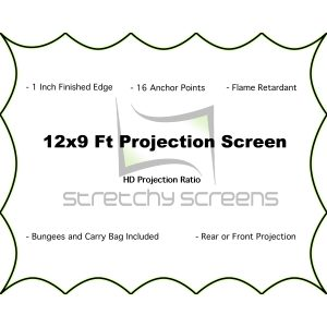 12x9 Ft stretchy screens- stretch projector screen