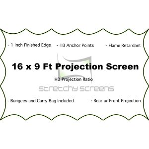 16 Ft x 9 Ft Spandex Projector screens