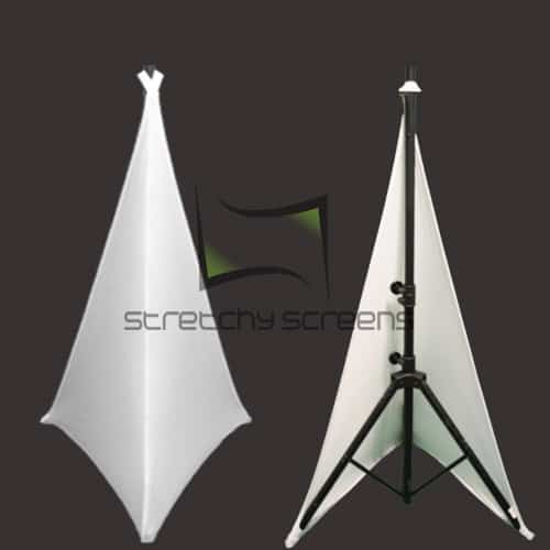 Double Sided Speaker Stand Covers Stretchy Screens