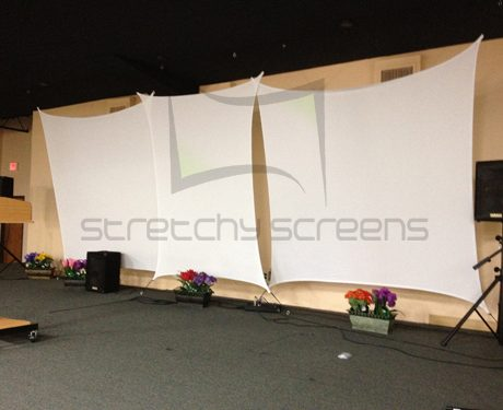 4 Point - Spandex Projector Screen