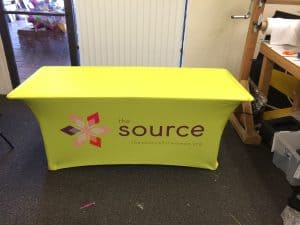 Printed Spandex Table Covers Stretchy Screens