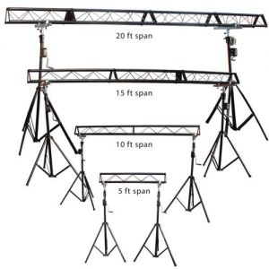 20 Ft wide triangle truss with crank stand