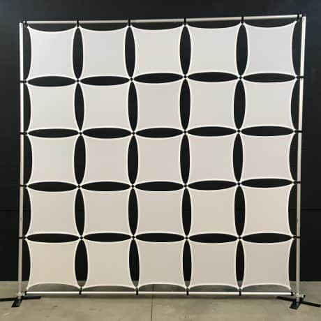 Square panel stretch wall for events and backdrops