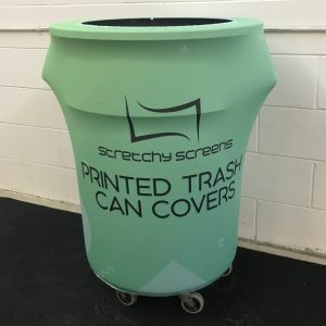 Custom Printed Trash Can Cover - 55 Gallon Garbage Can Cover