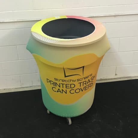 printed trash can cover